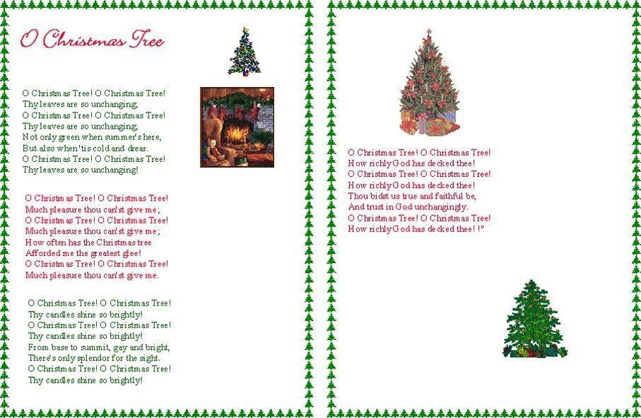 parole chanson o christmas tree