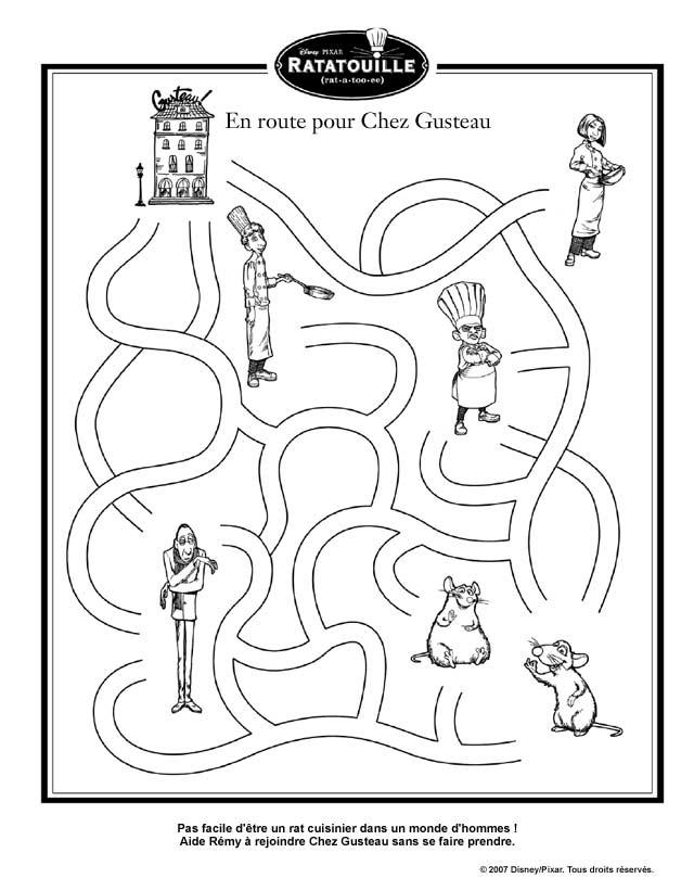 Coloriage Facile Ratatouille.Jeux Ratatouille Page 6 17