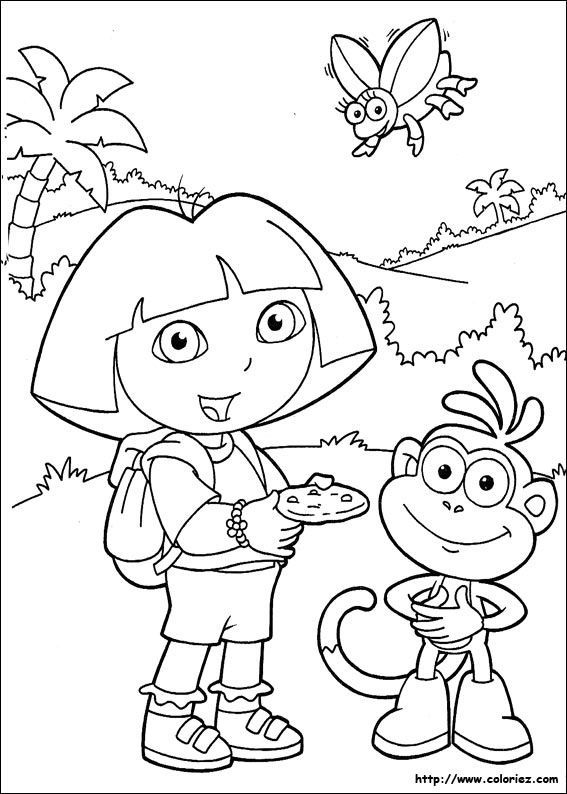 Coloriage Dora L Exploratrice